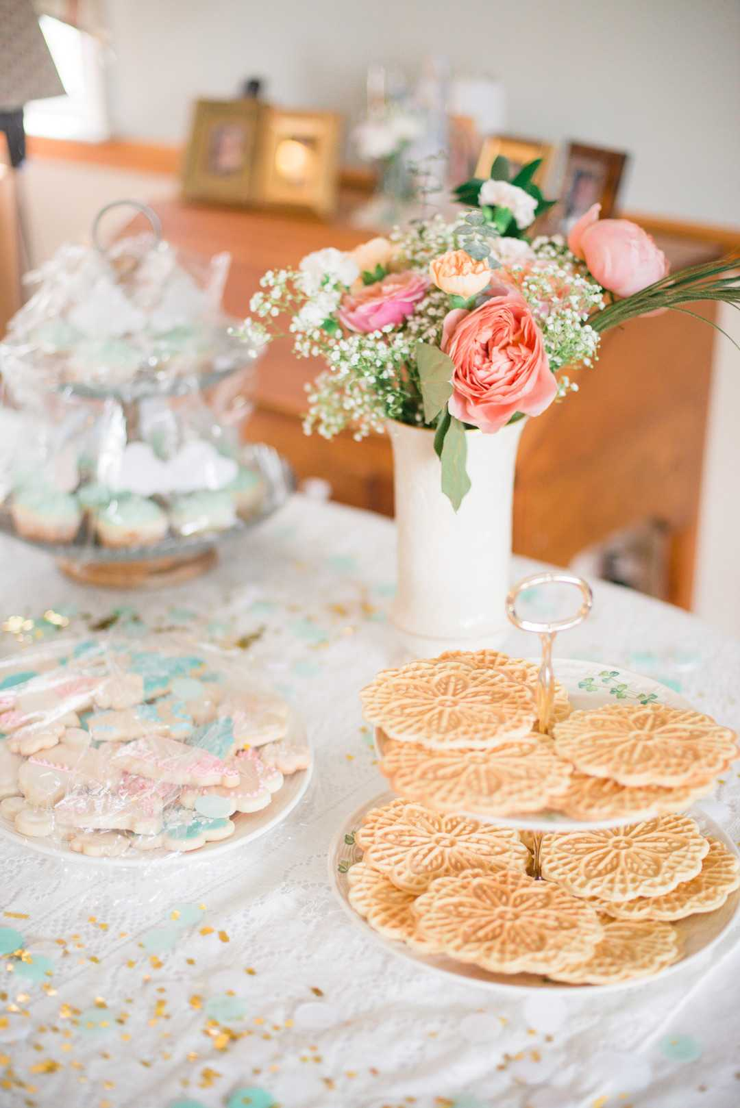 Dessert Table | An April Showers Brings May Flowers Baby Shower | Kate Aspen