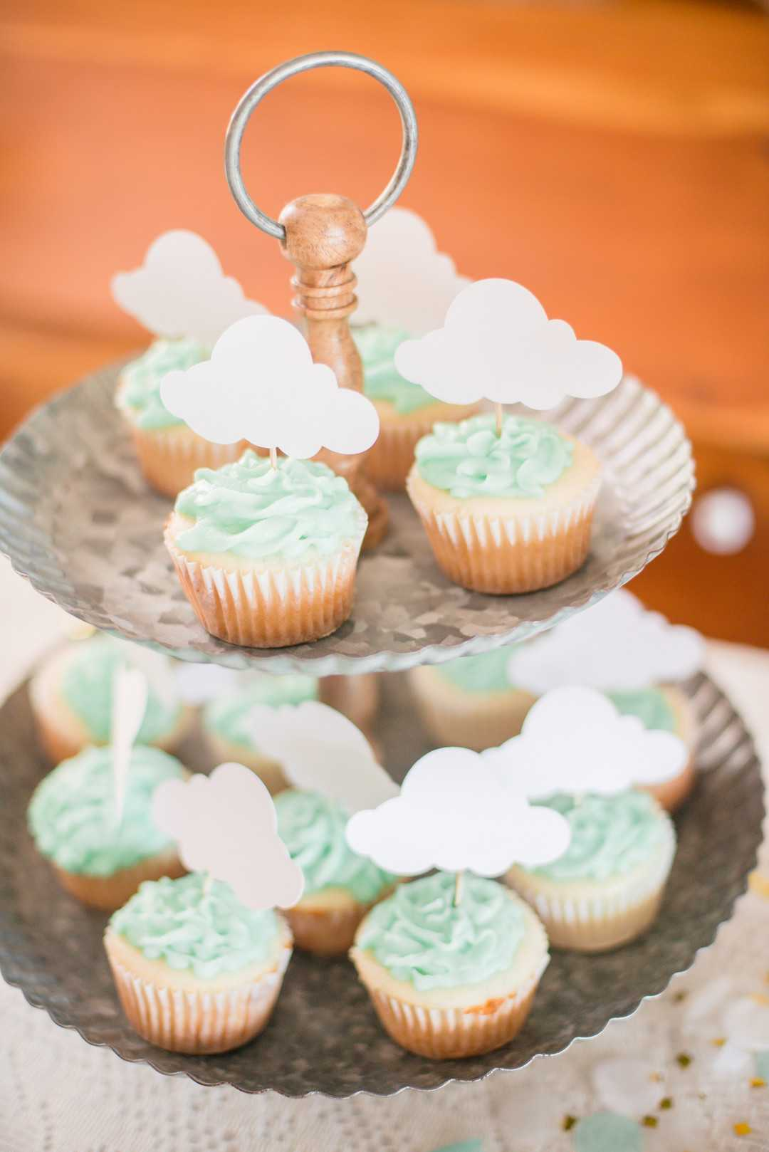 Cupcakes | An April Showers Brings May Flowers Baby Shower | Kate Aspen