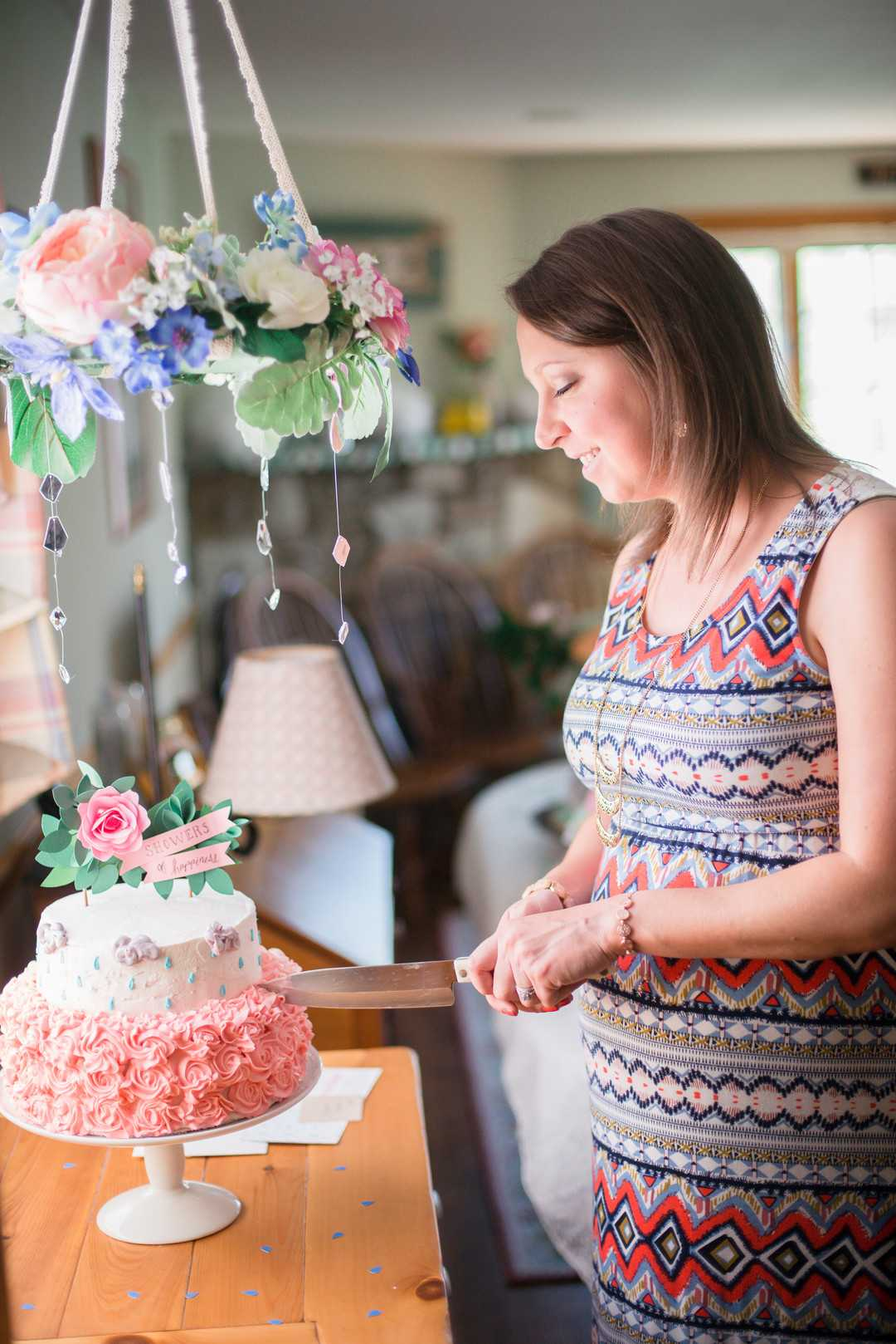 Cake | An April Showers Brings May Flowers Baby Shower | Kate Aspen