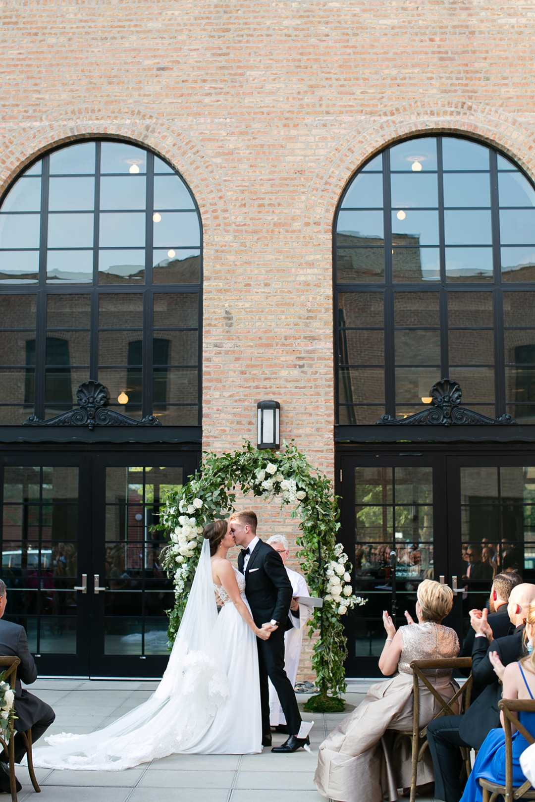 Bride and Groom | 2 Over the Top Rooftop weddings | Kate Aspen