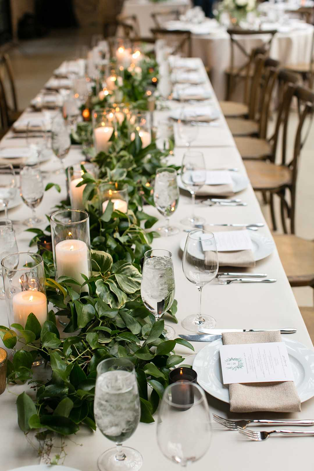 Reception Tablescape | 2 Over the Top Rooftop weddings | Kate Aspen