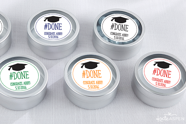 #Done Graduation Candy Tins | Kate Aspen