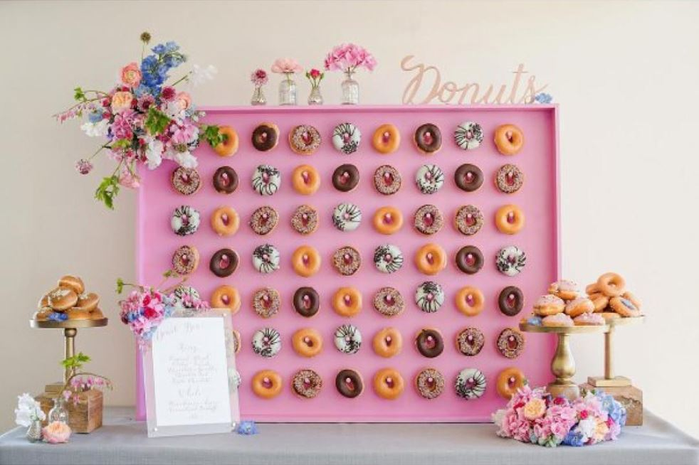 Donut Wall | 8 Simply Sweet Party Ideas | Kate Aspen
