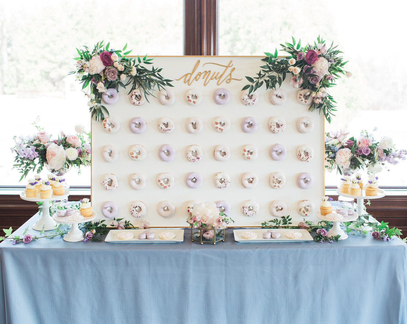 Donut Wall | Tips For the Perfect Floral Bridal Shower | Kate Aspen