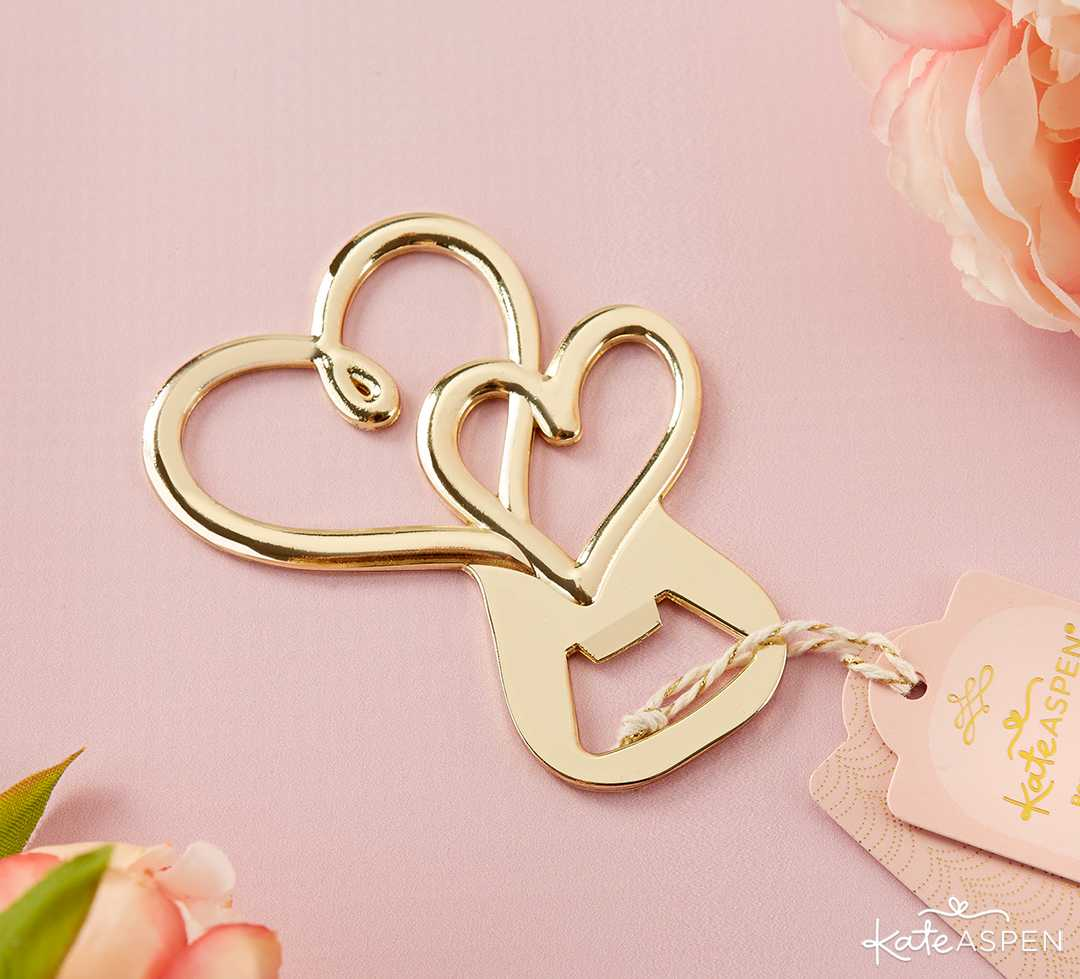 Gold Double Heart Bottle Opener | Galentine's Day Gifts for Your Best Gals | Kate Aspen