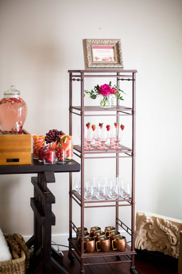 Drink Station | A Magical Pink Baby Shower | Kate Aspen