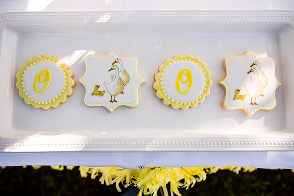 Beautiful duck cookies | Little Duckling Adoption Party by Sweet Georgia Sweet