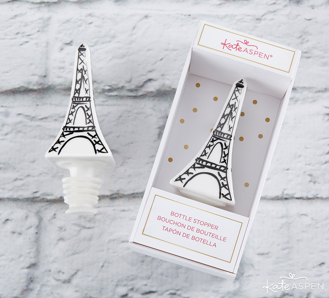 Eiffel Tower Bottle Stopper | 8 Gifts Under $25 to Get Your Sweetheart for Valentine's Day | Kate Aspen