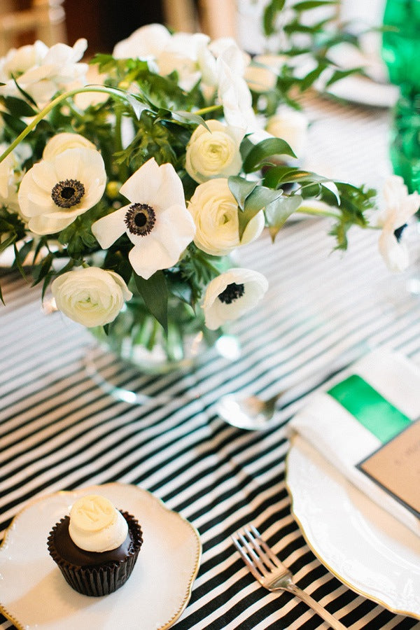 Elegant Green White and Black Baby Shower Inspired By This