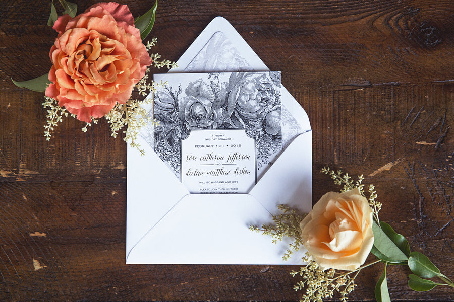 Beautiful Wedding Invitation | Garden Wedding Ideas | Jaylim Studio |Kate Aspen