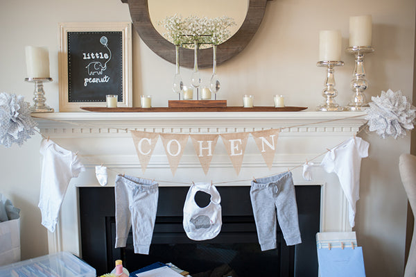 Elephant Baby Shower Decor | Alyssa Renee Photography