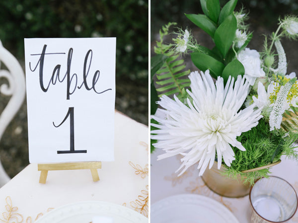 table number and centerpience inspiration| Elizabeth Burgi Photography