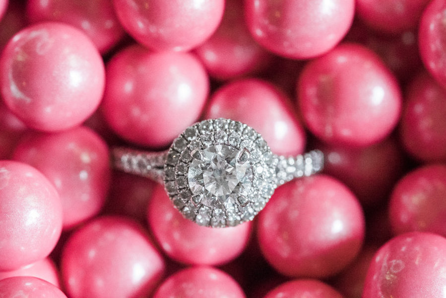 Bride's Engagement Ring | Kate Spade Bridal Shower | B. Jones Photography