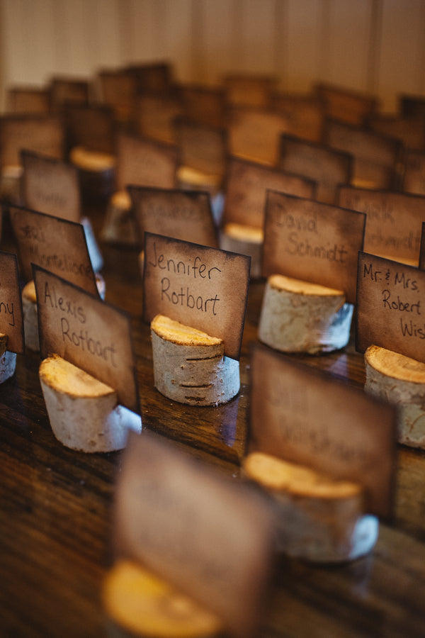 Rustic Escort Cards | Plantation Wedding in Charleston | Riverland Studios