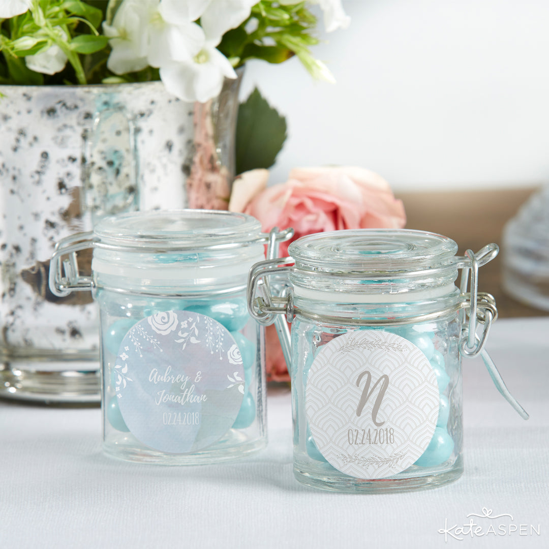 Ethereal Dream Glass Favor Jar | 12 Must Have Accents for a Whimsical Wedding | Kate Aspen