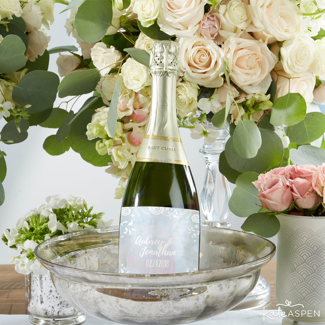 Ethereal Dream Wine Bottle Labels | 12 Must Have Accents for a Whimsical Wedding | Kate Aspen
