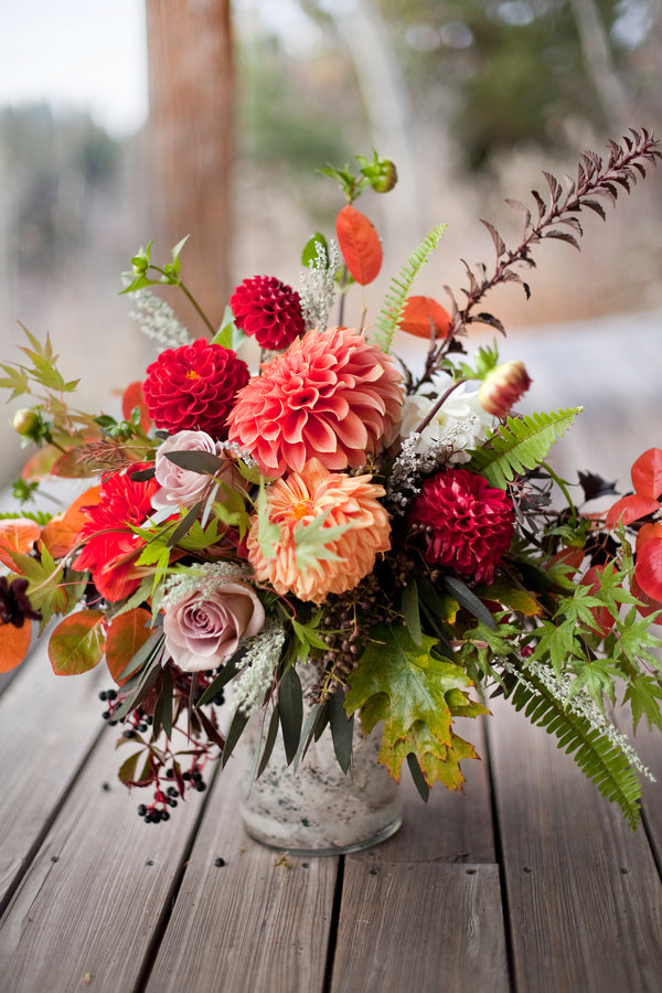 Beautiful Fall Wedding Floral Arrangement |  Tana Photography LLC