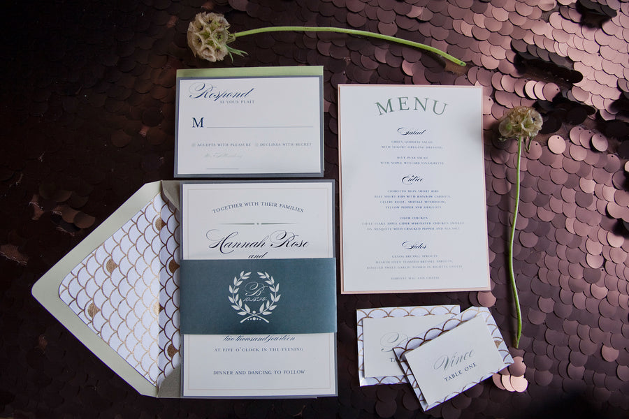 Fall Wedding Invitation Suite |  Tana Photography LLC