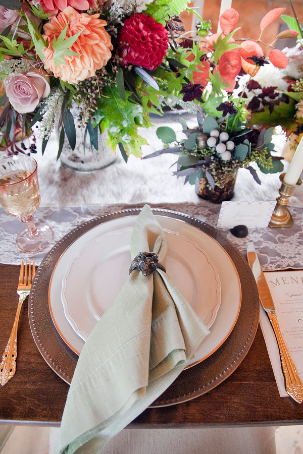 Fall Wedding Table Setting |  Tana Photography LLC