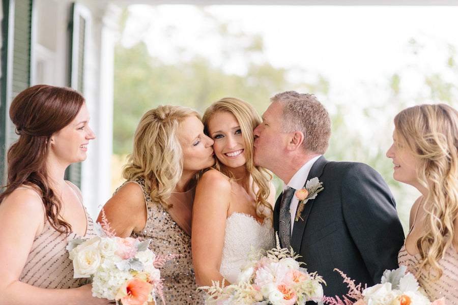 Family Kisses | Charleston Wedding | Riverland Studios