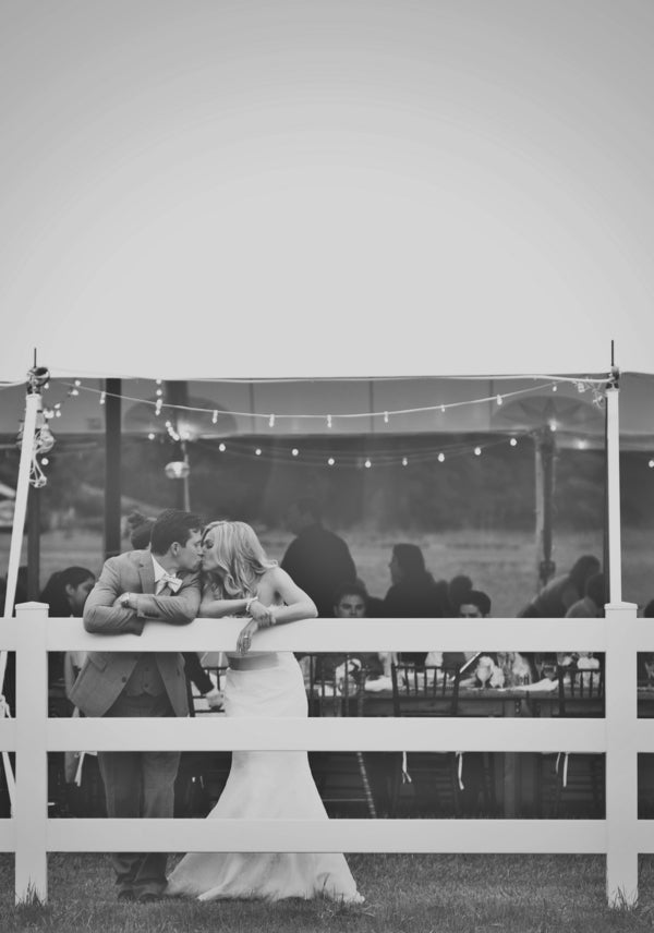 Bride and Groom Share Special Moment | Laura Dee Photography