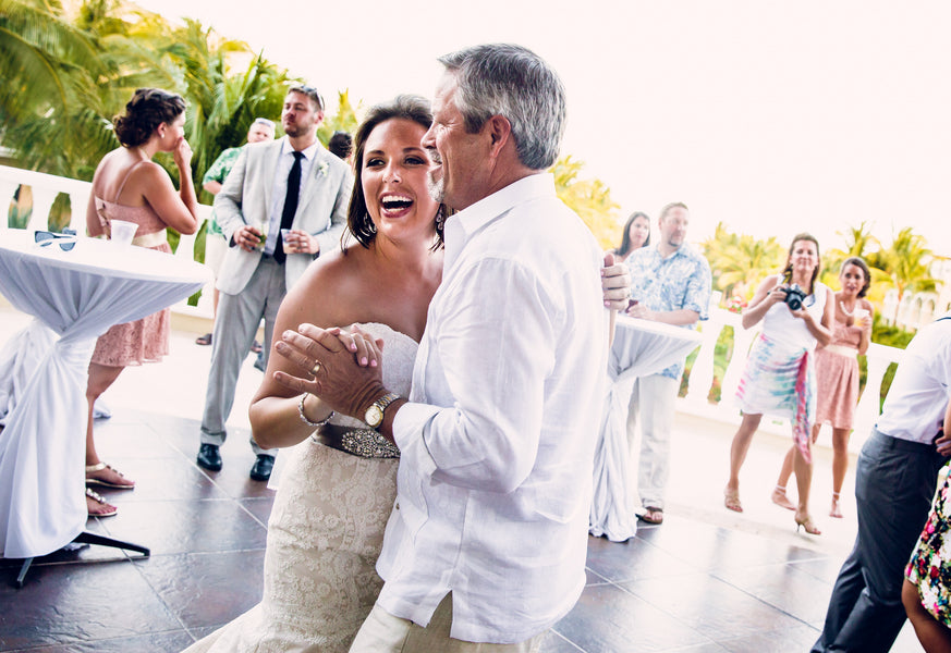 Father Daughter Dance | A Destination Wedding Weekend in Mexico | Kate Aspen