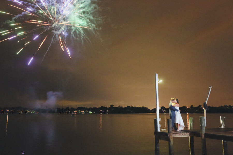 Firework Kiss | Southern Charm Meets Tropical Paradise | Kristen Browning Photography