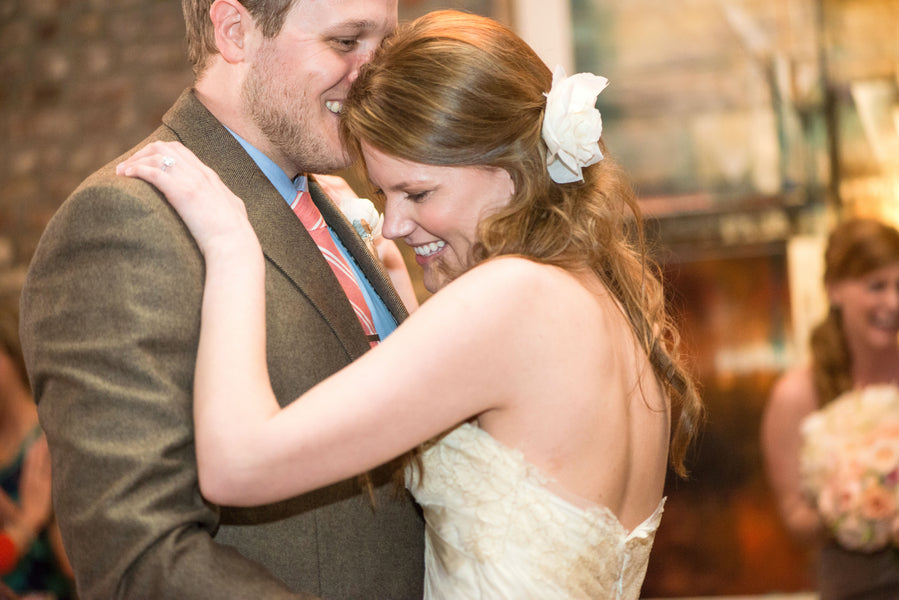 First Dance | Peachy Pink Wedding in Historic Charleston | Priscilla Thomas Photography