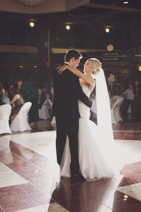 First Dance | A Sparking Winter Wedding | Dana Widman Photography | Kate Aspen