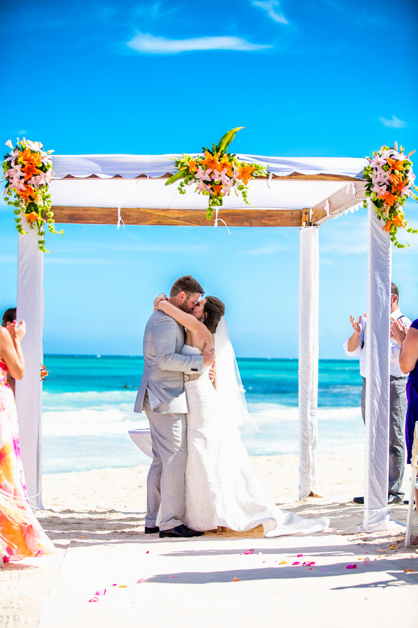 First Kiss | A Destination Wedding Weekend in Mexico | Kate Aspen