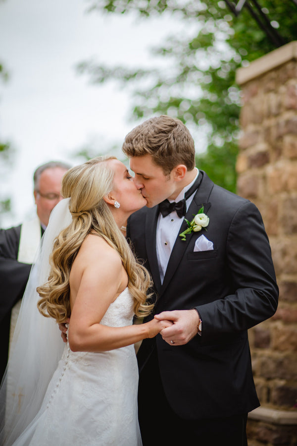 First Kiss | Blush and Gold Wedding | Asteria Photography