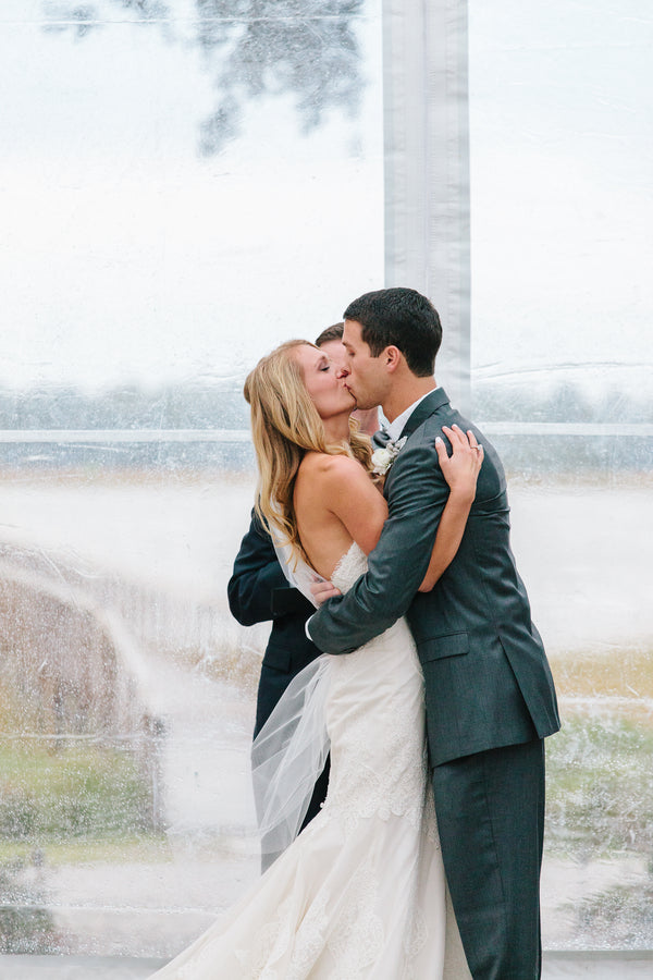 First Kiss | Charleston Wedding | Riverland Studios
