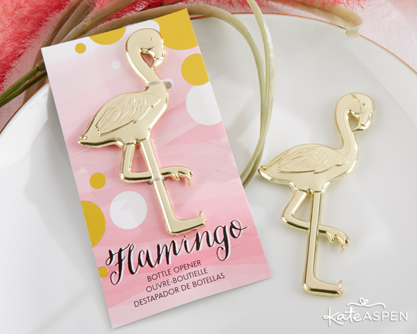 Tropical Wedding |Spring Wedding Trends 2016 | Flamingo Bottle Opener | @KateAspen | KateAspen.com
