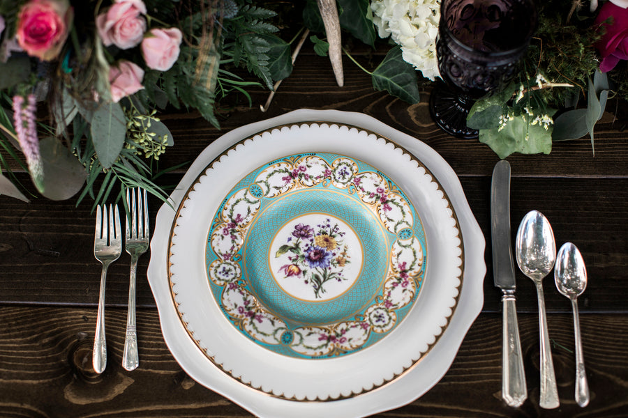 Floral China | Details For The Perfect Floral Wedding | Kate Aspen