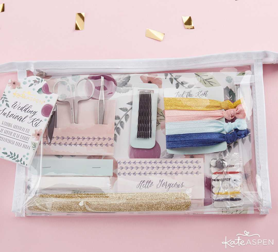 Floral Wedding Survival Kit | 10 Gift Ideas for Your Wedding Party | Kate Aspen