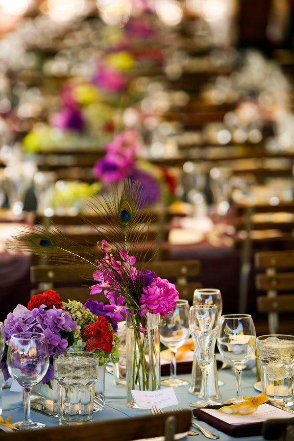 Flower Arrangements on Tables | Pepper Nix Photography