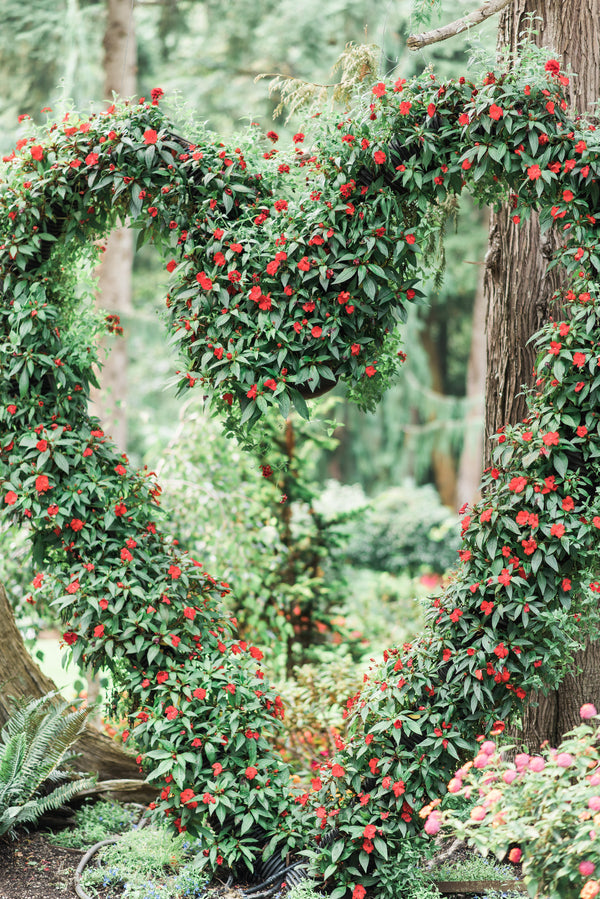 Flowers in Shape of Heart | Blissful Garden Wedding Details | B. Jones Photography
