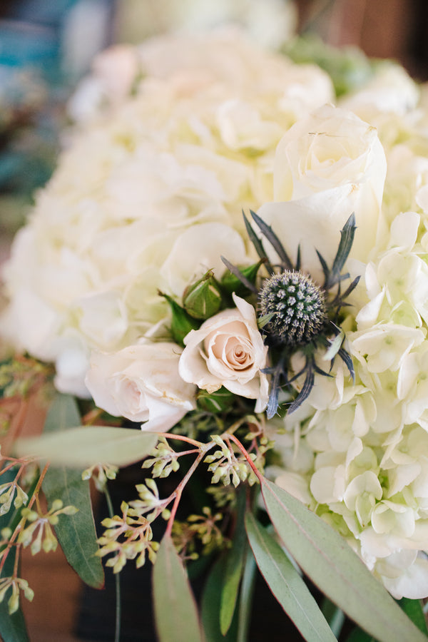 White Hydrangeas | Plantation Wedding in Charleston | Riverland Studios