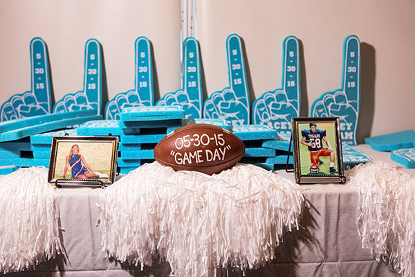 Customized Foam Fingers for Wedding | Wes Roberts Photography