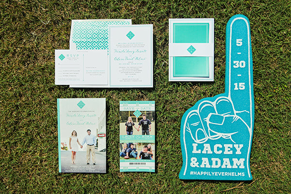 Football Themed Wedding Invitation Suite | Wes Roberts Photography