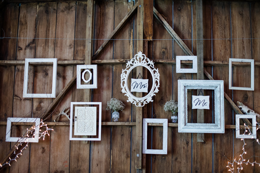 White Frames Display  | Spring Rustic Barn Wedding | Time Into Pixels Photography