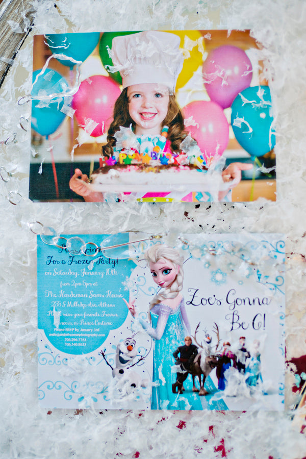 Frozen Birthday Party Invitation- Andie Freeman Photography