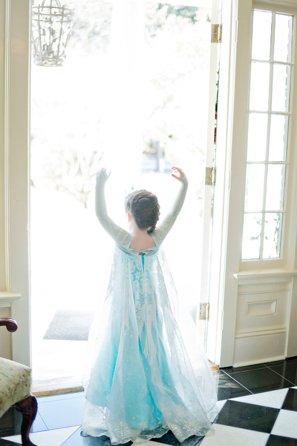 Frozen Themed Birthday Party Outfit - Andie Freeman Photography