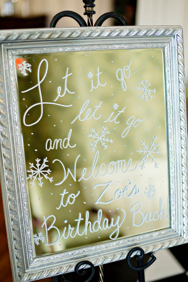 Frozen Themed Birthday Party Quote - Andie Freeman Photography