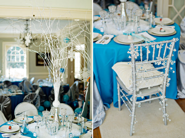 Frozen Birthday Party Centerpieces- Andie Freeman Photography