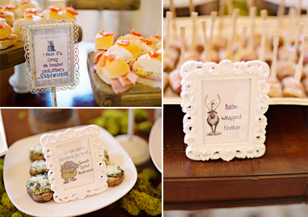 Frozen party menu ideas- Andie Freeman Photography
