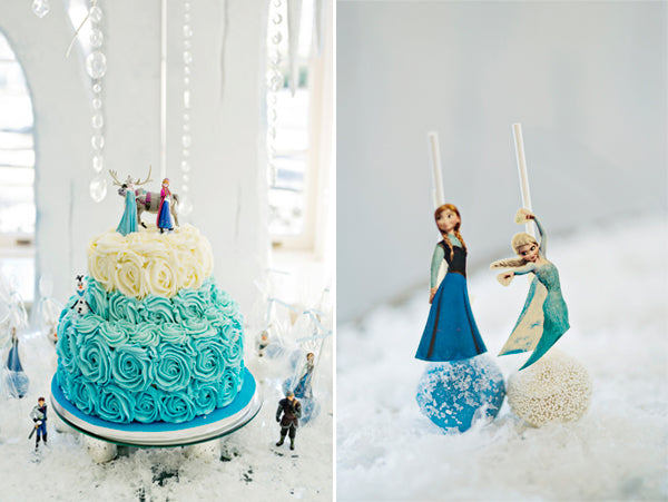 Frozen princess-themed birthday cake - Andie Freeman Photography