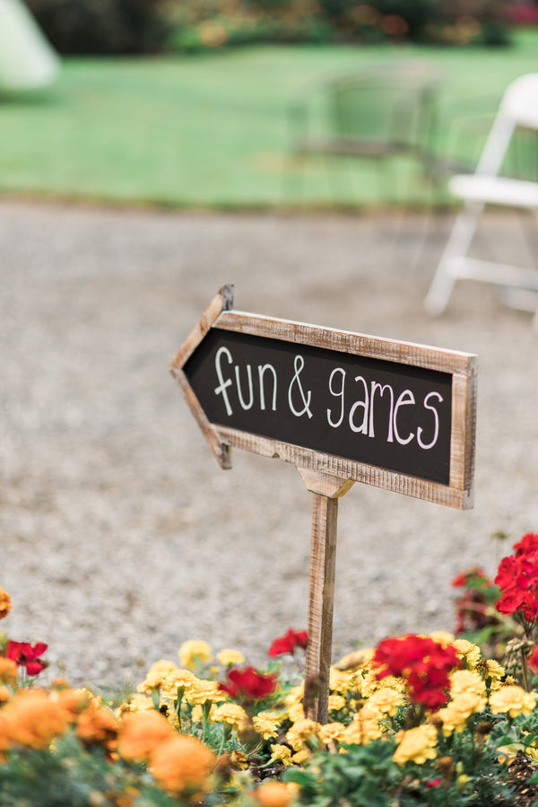 Fun and Games Sign B. Jones Photography