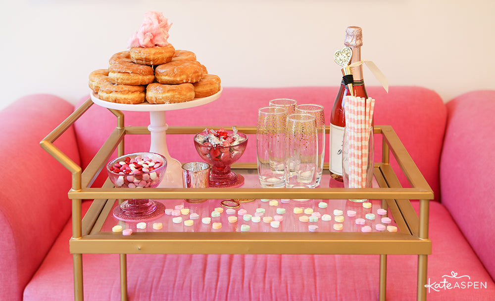 Galentine's Day Bar Cart | Kate Aspen