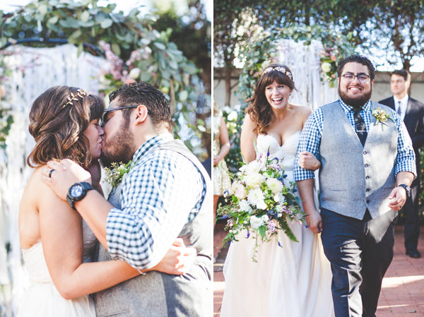 The kiss and recessional | Jessica Miriam Photography